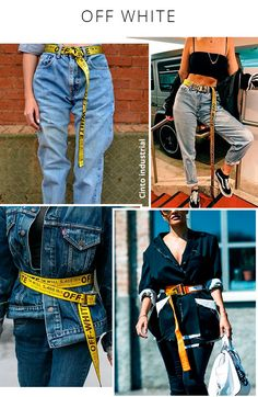 off white - cinto - amarelo - cor - steal the look