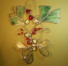 3D Stained Glass Suncatcher  Green Ginkgo With by jacquiesummer, $38.00