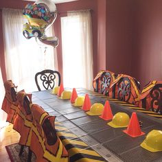 Construction birthday party. Truck party. 2 year old birthday.
