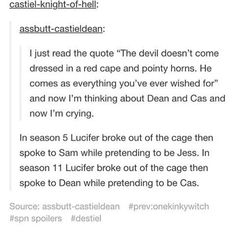 Destiel makes me cry all the time