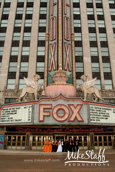 Wedding at the Fox Theater, Detroit, MI, Photo by Mike Staff