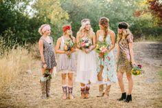 boho wedding ideas. Kind of crazy but cute..