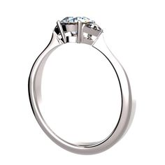 4 prongs Side Stones Ring #8293