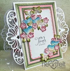 Heartfelt Creations   Birds And Blooms Regal Borders Thank You