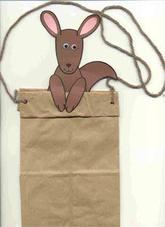 Kangaroo paper bag puppet   Preschool Curriculum ...