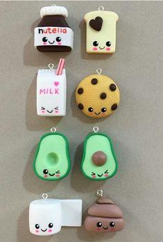 things to make with clay ARTE COM QUIANE - Paps e Moldes de Artesanato : Inspirao comidinhas em Biscuit Kids Crafts, Cute Crafts, Diy And Crafts, Arts And Crafts, Simple Crafts, Summer Crafts, Fall Crafts, Christmas Crafts, Kawaii Crafts