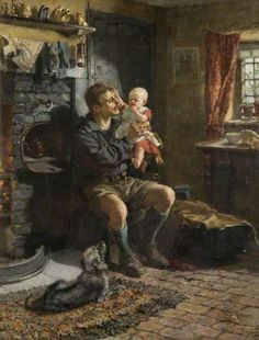 The Athenaeum - Geordie Haa'd the Bairn (Ralph Hedley - )