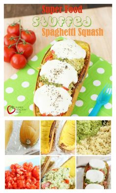 Super Food Stuffed Spaghetti Squash Recipe - Spaghetti squash taken up a notch! This dinner will be one of your families favorites! http://www.superhealthykids.com/super-food-stuffed-spaghetti-squash/
