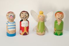 Peter Pan Inspired Peg People / Cake Toppers by anrcdb2006 on Etsy, $16.50
