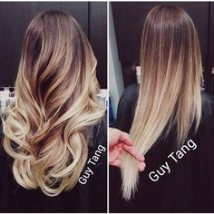 Curled ot straight ombre by Guy Tang | Yelp