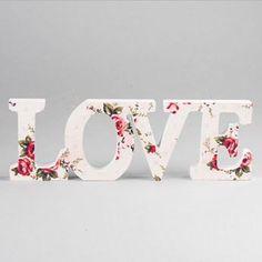 Ver detalles de Letrero love floral