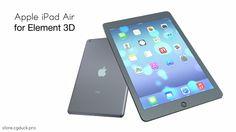 Apple iPad Air for Video Copilot's Element 3D. Product Link: http://store.cgduck.pro/element-3d/apple-ipad-air-e3d.html