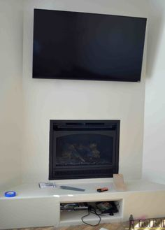 Create that room focal point that you've been dreaming about. DIY fireplace mantel shelf for about $210 in knotty alder!