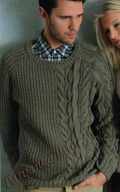 This Pin was discovered by Вал Cable Sweater, Men Sweater, Knitting Designs, Knitting Patterns, Handgestrickte Pullover, Cable Knitting, Streetwear, Knitwear, Knit Crochet