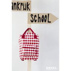 ENGELpunt back pack apples Kids Backpacks, Magazine Rack, Cow, Pouch, Packing, Storage, School, Apples, How To Make