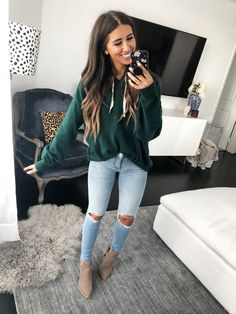 trendy fall women outfits to copy right now 9 Lazy Day Outfits, Cute Fall Outfits, Fall Winter Outfits, Autumn Winter Fashion, Spring Outfits, Trendy Outfits, Fashion Outfits, Autumn Jeans Outfits, Workwear Fashion