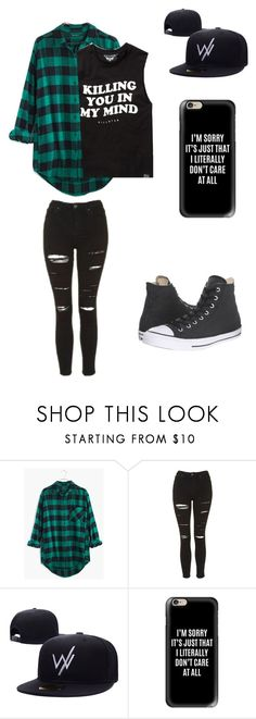 """Untitled #50"" by darksoul7 ❤ liked on Polyvore featuring Madewell, Topshop, Casetify and Converse"