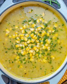 Healthy Summer Corn Chowder - Vegetarian and Gluten Free Vegetarian Corn Chowder, Easy Corn Chowder, Summer Corn Chowder, Rajma Masala Recipe, Healthy Summer, Summer Food, Healthy Soup Recipes, Summer Recipes, Stuffed Peppers