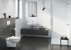 Galeria łazienek - zdjęcia, gotowe projekty - Domni.pl Siena, Toilet, Bathroom, Washroom, Flush Toilet, Full Bath, Toilets, Bath, Bathrooms