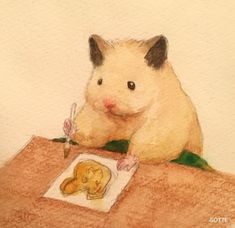 Japanese Artist Depicts The Typical Life Of His Pet Hamster, And The Result Is Adorable Cute Animal Drawings, Cute Drawings, Art And Illustration, Illustrations, Pretty Art, Cute Art, Japanese Hamster, Art Inspo, Bel Art