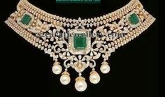Jewellery Designs: Broad Diamond Necklace by Kothari
