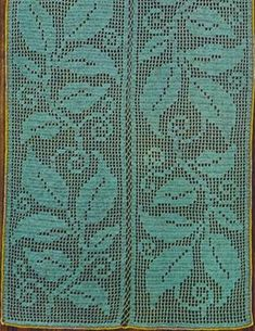 Filet Crochet Patterns of the Rug  Leaves