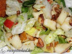 Almás-körtés saláta vinegrettel Pasta Salad, Potato Salad, Cabbage, Food And Drink, Potatoes, Meals, Vegetables, Cooking, Ethnic Recipes