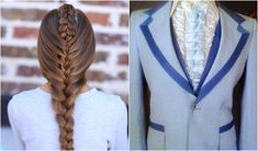 Tuxedo Braid..this is so great!  #hairstyles #hairstyle #braid #tuxedobraid #CGHtuxedobraid #longhair #braid