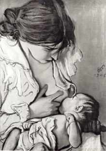 Wyspianski - Art w/ dogs - Embarazadas Breastfeeding Art, World Breastfeeding Week, Mother Art, Mother And Child, Birth Art, Pregnancy Art, Mary Cassatt, Beauty Full Girl, Illustration Art