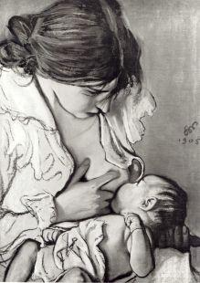 Motherhood (Portrait of Zofia Żeleńska with Her Son Staś)    Stanisław Wyspiański (1869-1907)