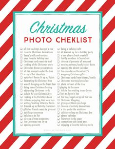 Christmas Photo Checklist - simple as that