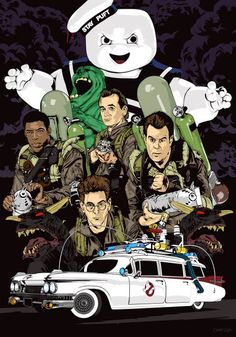 Ghostbusters by Alex G. Ghostbusters Poster, The Real Ghostbusters, Original Ghostbusters, Cartoon Kunst, Cartoon Art, Desenhos Hanna Barbera, Die Geisterjäger, Cartoon Posters, Character Art