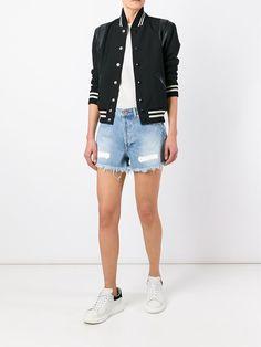 Off-White джинсовые шорты с необработанными краями