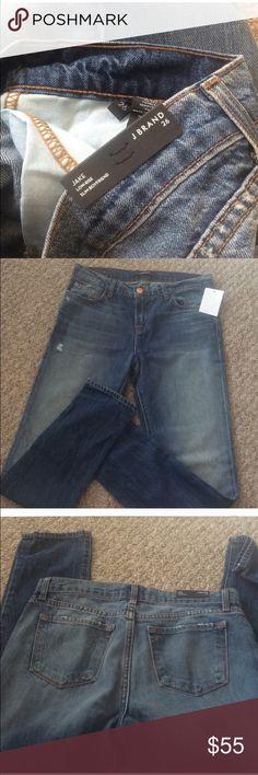 J Brand Jake boyfriend jeans NWT slightly distressed J Brand slim low rise Jake Boyfriend jeans J Brand Jeans Boyfriend