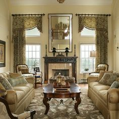 25 Best Traditional Living Room Designs | Living room window ...