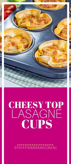 These Mini Lasagne Cups are perfect FREEZER FOOD - make individual serves and pop one in the microwave for lunch or frozen into a lunch box. Healthy Snacks, Lunch Snacks, Lunch Box, Lasagna Cups, Real Food Recipes, Cooking Recipes, Easy To Make Snacks, Family Meals, Family Recipes