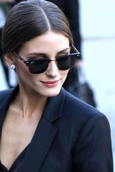 Olivia Palermo in Ray-Ban 3016 sunglasses Ray Ban 3016, Paris Fashion Week Street Style, Paris Style, Look Olivia Palermo, Ray Ban Sunglasses Sale, Sunglasses Outlet, Sunglasses 2016, Sunglasses Store, Ray Ban Clubmaster Sunglasses