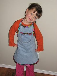 jean crafting apron - Awesome for Hannah and Emily!