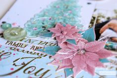 Well this time around I wasn't even half disappointed or let down by the paper or the photos, because what Kaisercraft has done is found the perfect middle way and made a range that is perfectly compatible and it really is quite amazing in every sense. I used the Christmas Wishes range to create this …