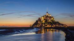 Photograph After sunset, Mont St. Michel. by Francis So on 500px