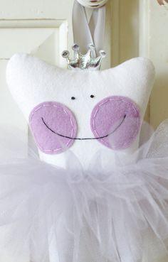 Princesa hada de los dientes la almohada con por chloejanehandmade