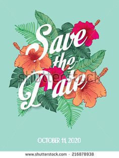 save the date invite card template vector/illustration