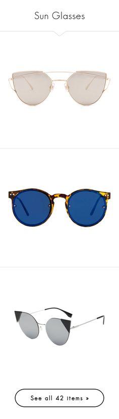 """Sun Glasses"" by lu-ciminari49 ❤ liked on Polyvore featuring accessories, eyewear, sunglasses, glasses, oculos, titanium frame glasses, flat-top sunglasses, uv protection glasses, uv protection sunglasses and mirrored lens sunglasses"