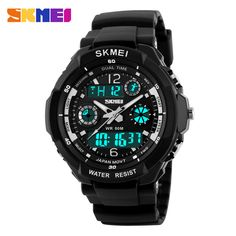 $9.30 (Buy here: https://alitems.com/g/1e8d114494ebda23ff8b16525dc3e8/?i=5&ulp=https%3A%2F%2Fwww.aliexpress.com%2Fitem%2FS-Shock-Mens-Military-Watch-For-Men-Sport-Watch-2times-Zone-Backlight-Quartz-Chronograph-Jelly-Silicone%2F32248941660.html ) S-Shock Mens Military Watch For Men Sport Watch SKMEI Luxury Brand Analog Quartz And LED Digital Outdoor Waterproof Watches for just $9.30