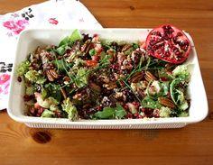beautiful food, foodblog, salad, salade, granaatappel, foodpic, foodpics, eetfoto's, mooie eetfoto's, foodporn, healthy, food, voedsel