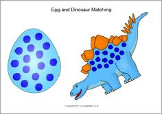 Egg and dinosaur matching (same dinosaur) (SB10073) - SparkleBox