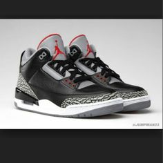 newest 14063 684c3 My all time Cement 3s, Black Cement, Air Jordan Sneakers, Jordans Sneakers,