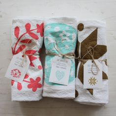 Mint Heart Flour Sack Screen Printed Tea Towel by FairMorningBlue Silk Screen Printing, Printing On Fabric, Cute Packaging, Packaging Ideas, Stamp Carving, Fabric Stamping, Turkish Towels, Textile Patterns, Tea Towels