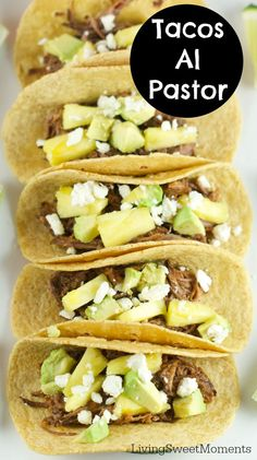 Tacos Al Pastor - These easy beef tacos al pastor are made in the slow ...