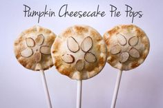Pumpkin Cheesecake Pie Pops Recipe - perfect fall treat!
